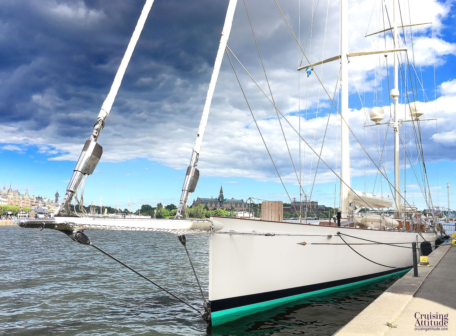 Stockholm City Visit - Superyacht - Cruising Attitude Sailing Blog | Discovery 55