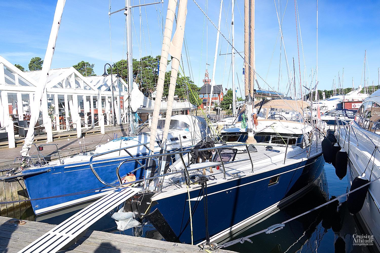 Sandhamn's marina in Stockholm's Archipelago | Cruising Attitude Sailing Blog | Discovery 55